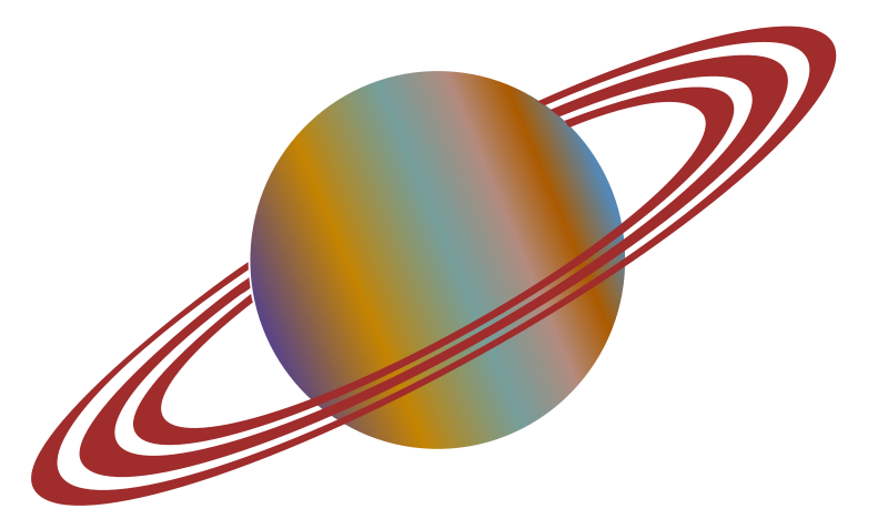 free vector Planet with Rings