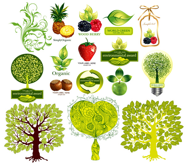free vector Plant fruit theme vector