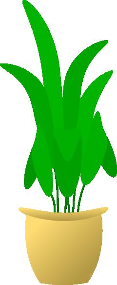 free vector Plant In Pot clip art
