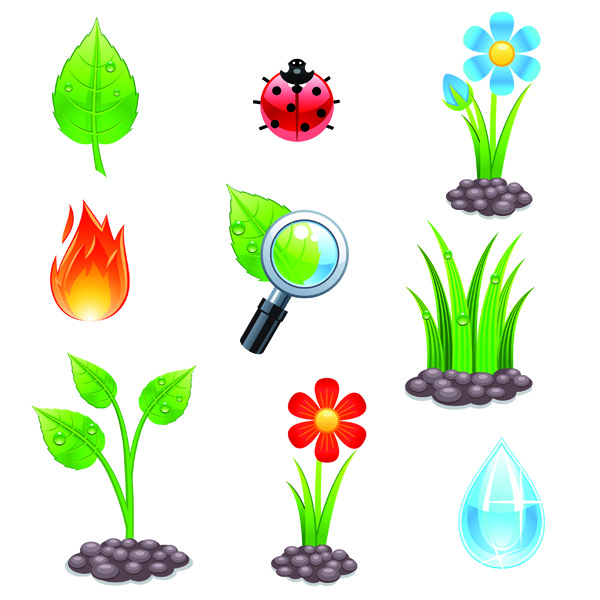 free vector Planting theme vector