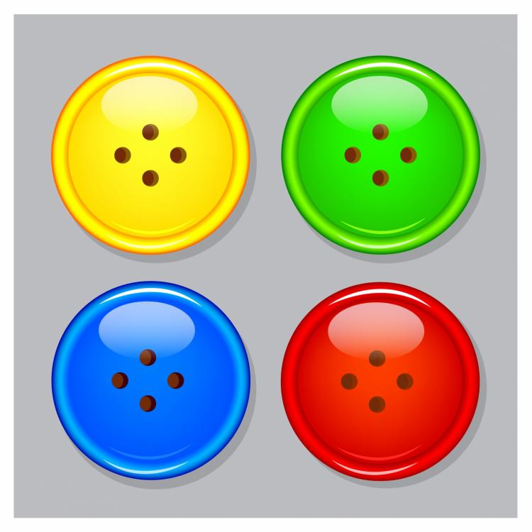 free vector Plastic buttons