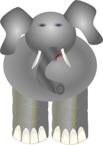 free vector Ploppy The Elephant clip art