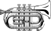 free vector Pocket Trumpet B Flat (b And W) clip art