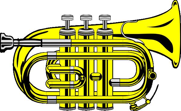 free vector Pocket Trumpet B Flat (colour) clip art