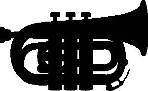 free vector Pocket Trumpet Silhouette clip art