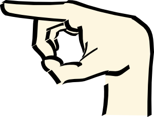 free vector Pointing Hand clip art