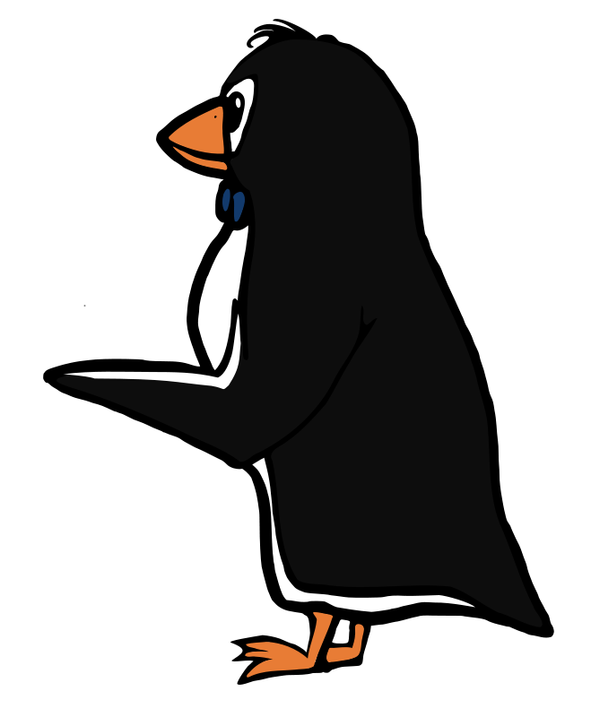 free vector Pointing Penguin