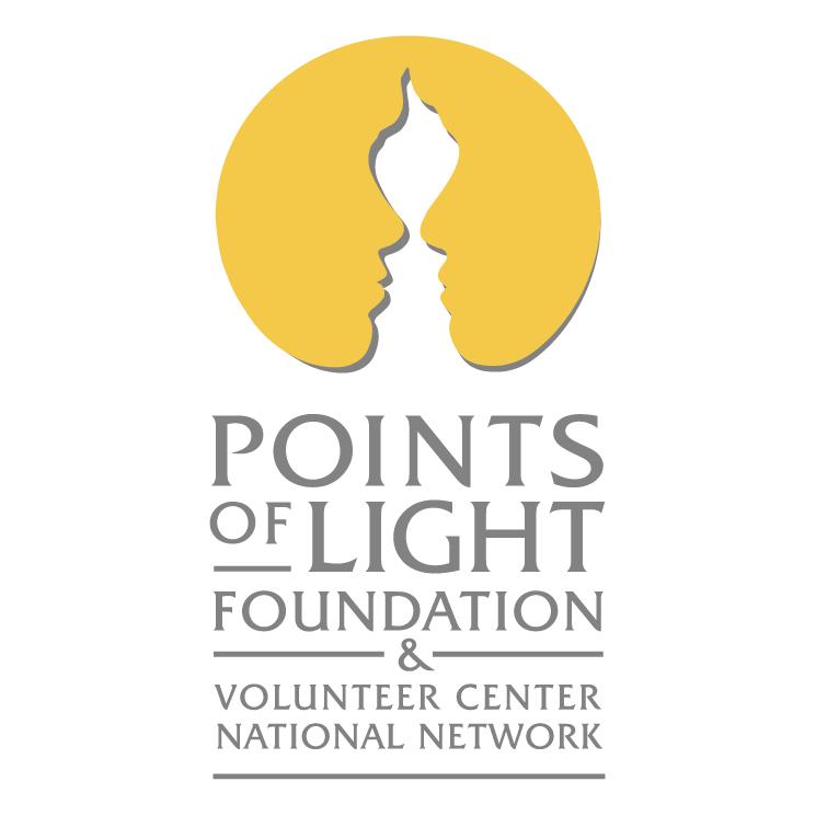 free vector Points of light foundation volunteer center national network