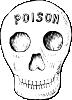 free vector Poison Skull clip art