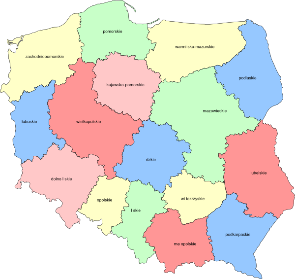 free vector Poland Provinces clip art