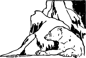 free vector Polar Bear In The Snow clip art