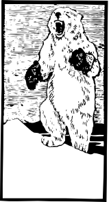 free vector Polar Bear With Mittens clip art
