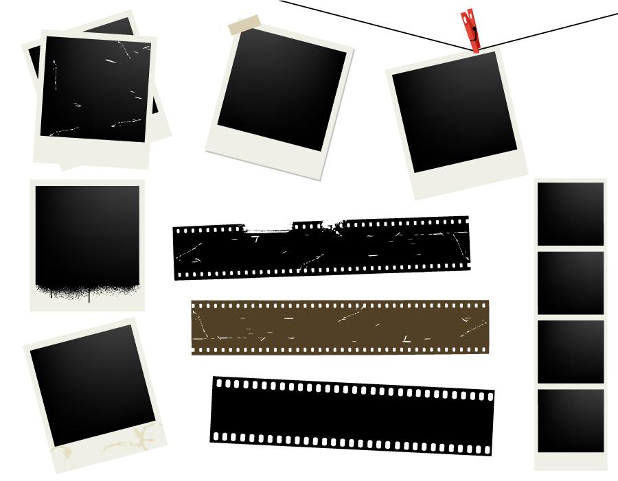 free vector Polaroid photo vector