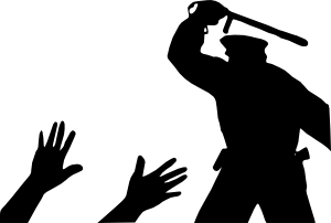 free vector Police Brutality clip art