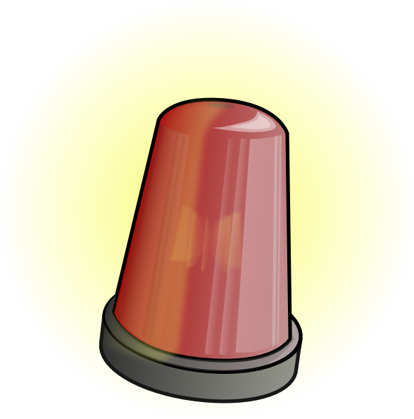 free vector Police Car Alarm clip art