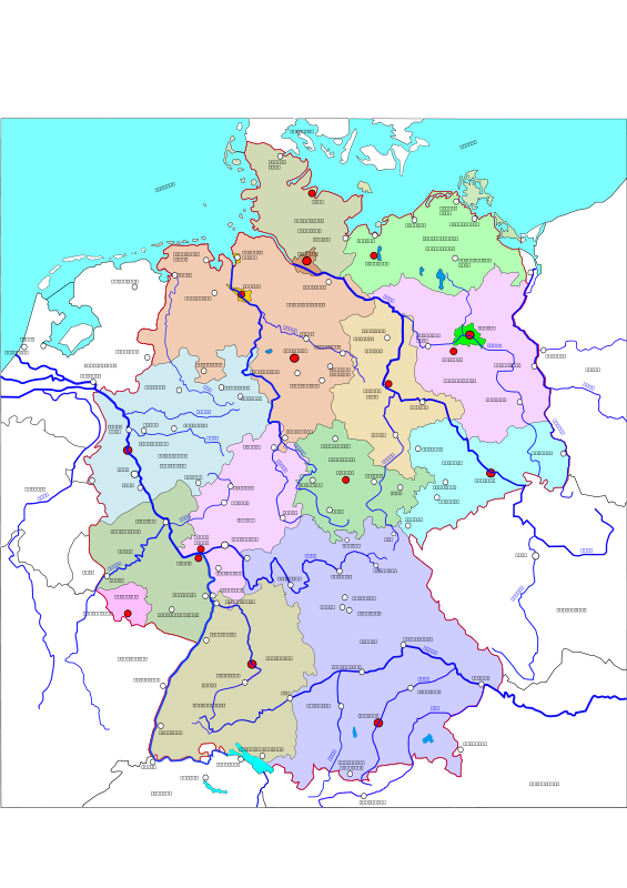 free vector Political map of Germany 2