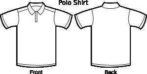 free vector Polo Shirt Template clip art