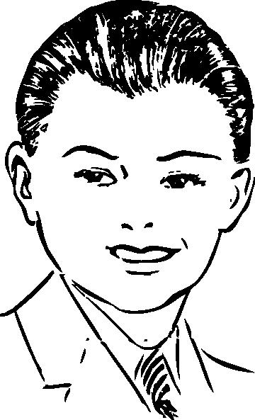 free vector Pompadour Front View clip art