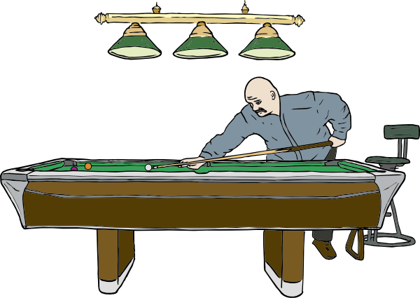 Free Vector Pool Table With Player Clip Art