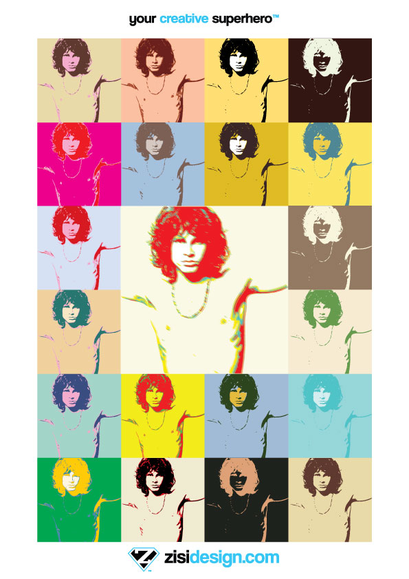 free vector Pop Art Jim Morrison The Doors Poster Vector