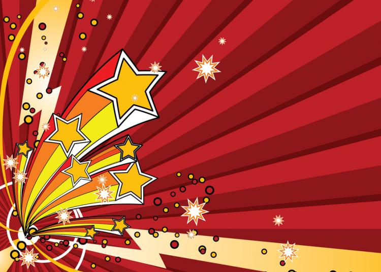 free vector Pop Art Star Burst