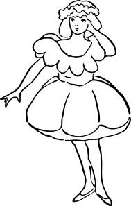 free vector Poppy Girl clip art