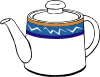 free vector Porclain Tea Kettle clip art