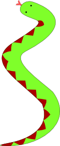 free vector Portablejim Green Snake With Red Belly clip art