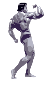 free vector Posing Body Builder clip art
