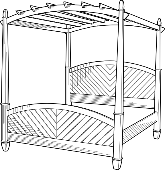 free vector Post Bed clip art