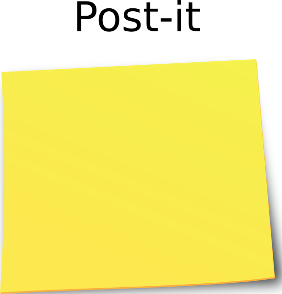 free vector Post It Note clip art
