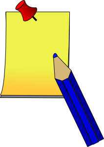 free vector Post It Paper Pen clip art
