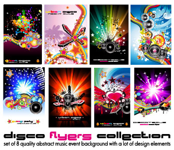free vector Poster dynamic musical elements vector