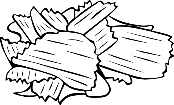 free vector Potato Chips (b And W) clip art