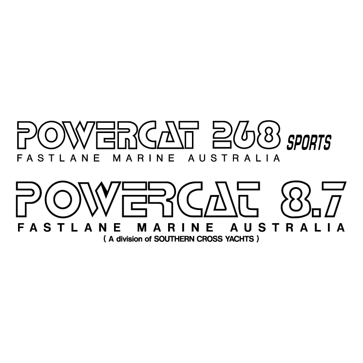 free vector Powercat boats