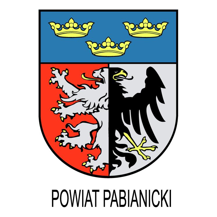 free vector Powiat pabianicki
