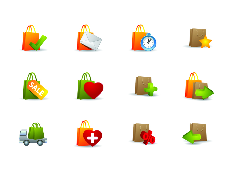 free vector Practical bag icon vector