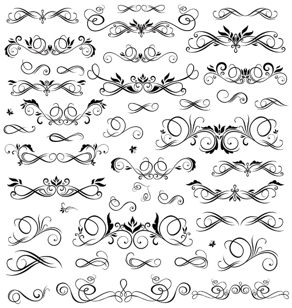 free vector Practical black and white lace pattern vector