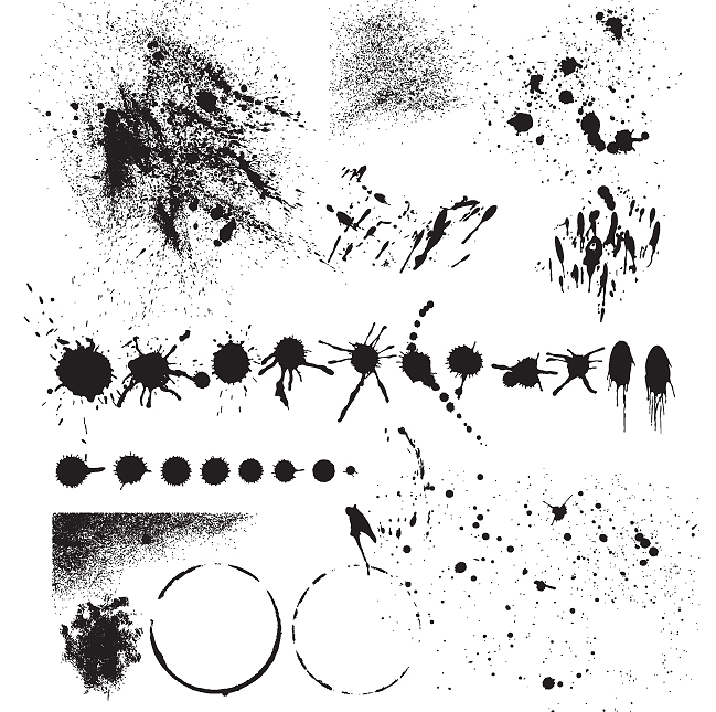 free vector Practical effect of traces of inkjet ink vector
