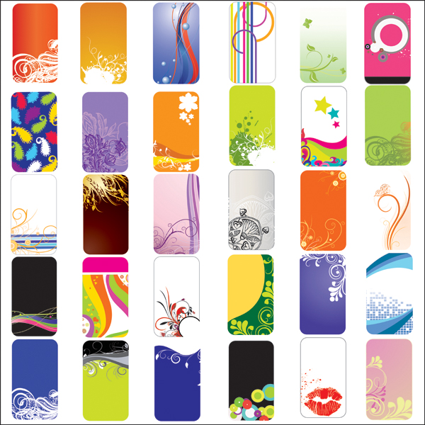free vector Practical elements of the card background vector