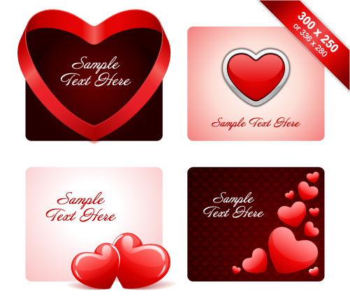 free vector Practical elements of vector 2 valentine day
