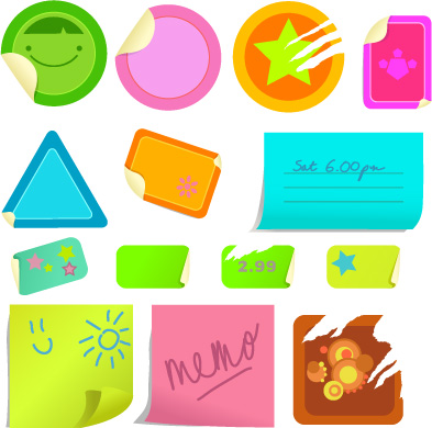 free vector Practical elements of vector stickers