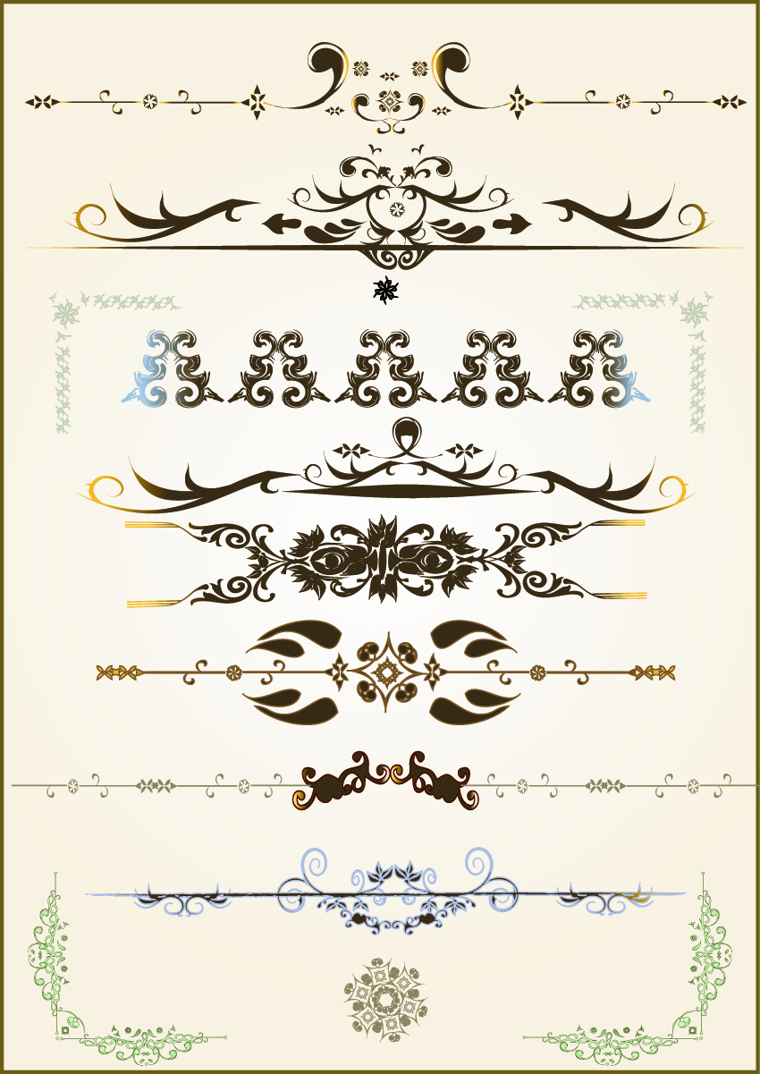 free vector Practical lace pattern vector classic europeanstyle