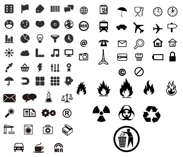 free vector Practical small icon vector identification