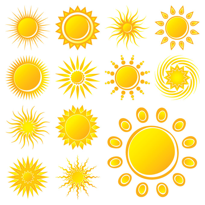 free vector Practical sun icon vector