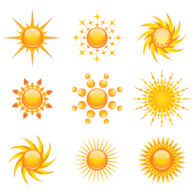 free vector Practical sun icon vector