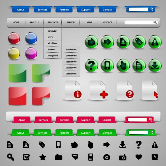 free vector Practical web design elements 01 vector