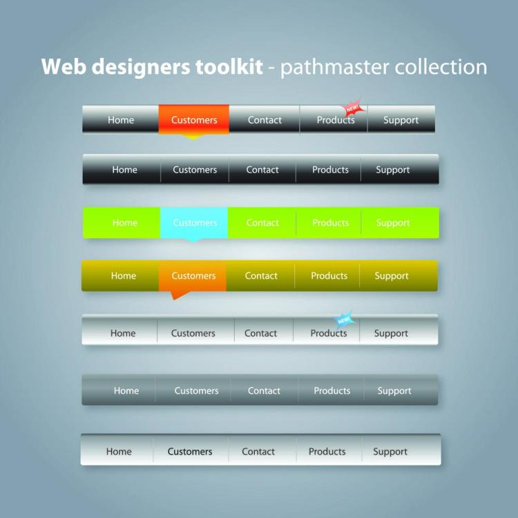 free vector Practical web design kit 01 vector
