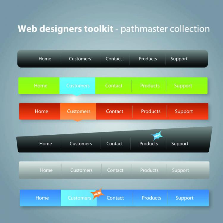 free vector Practical web design kit 04 vector