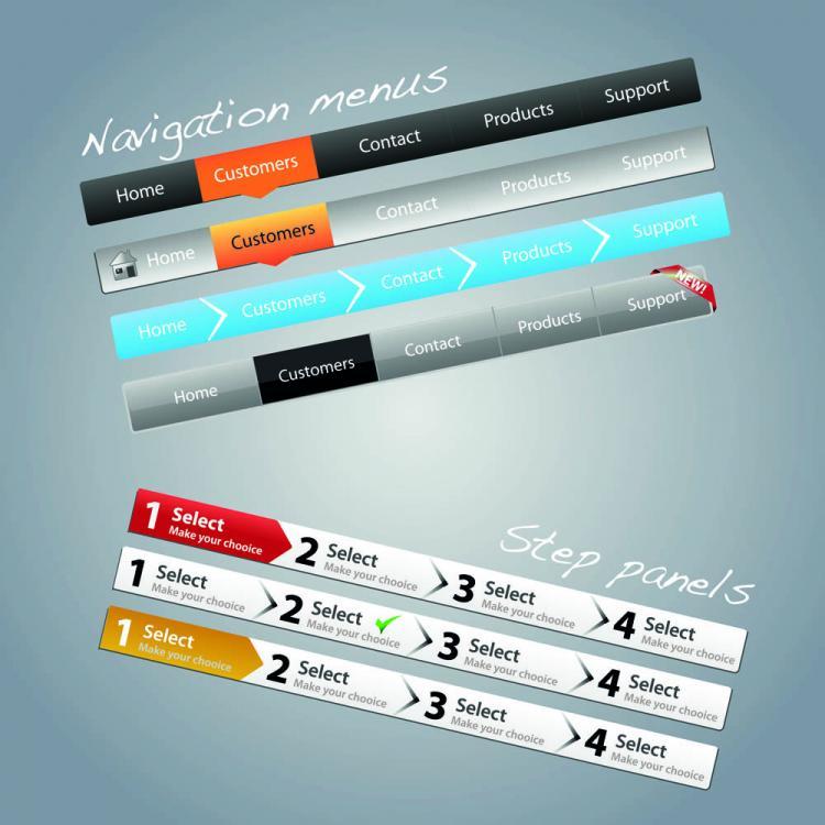 free vector Practical web design kit 05 vector